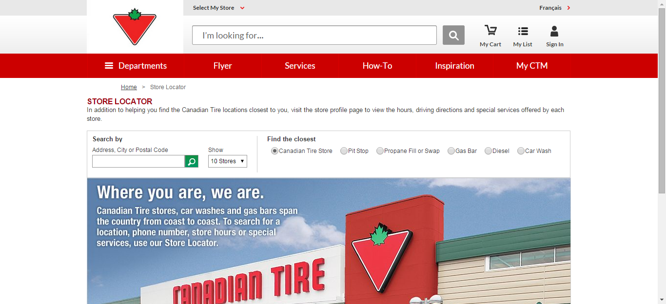 canadiantire store